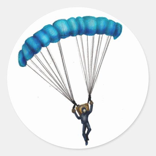 Paracaídas Classic Round Sticker