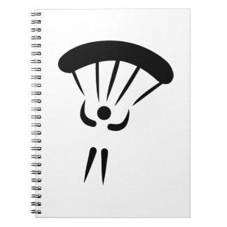 Paracaídas de Skydiving Libreta Espiral