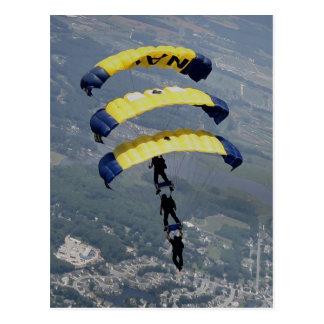 Paracaídas de Skydiving Tarjetas Postales