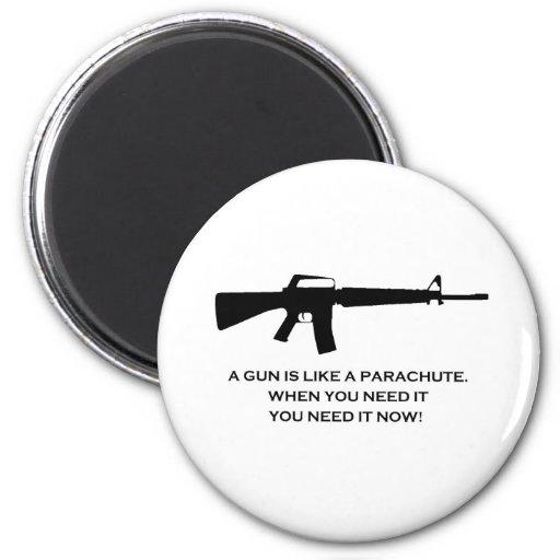 paracaídas del arma imán redondo 5 cm