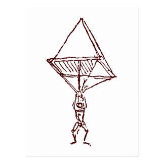paracaídas tarjeta postal