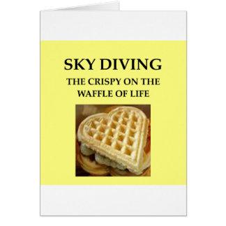paracaidismo tarjeta de felicitación