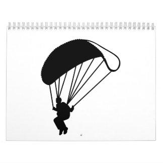 Paracaidista de Skydiving Calendarios De Pared