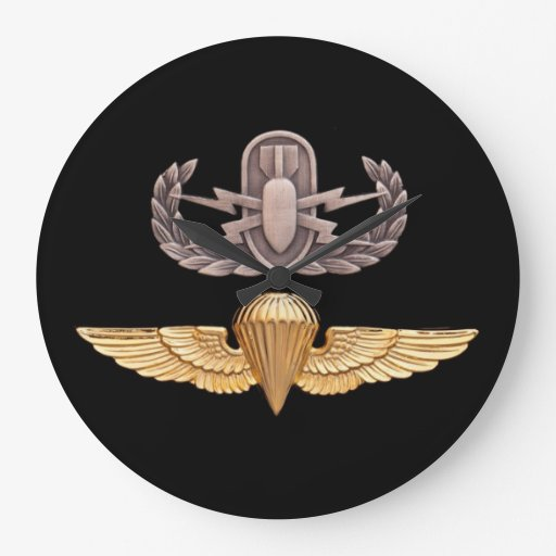 Paracaidista del EOD Reloj Redondo Grande