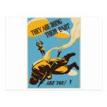 Paracaidista del vintage de WWII Tarjetas Postales