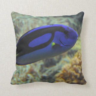 Paracanthurus hepatus throw pillow