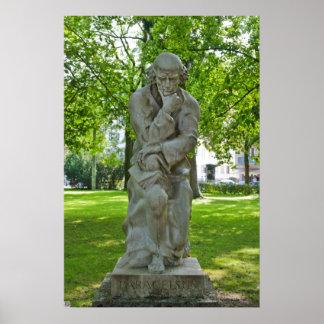 Paracelsus Monument in Salzburg Poster