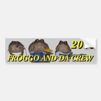 parachoque 2016 del froggo pegatina para auto