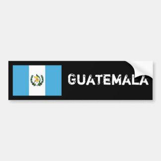 Parachoque 2 de la bandera de Guatemala Pegatina Para Auto