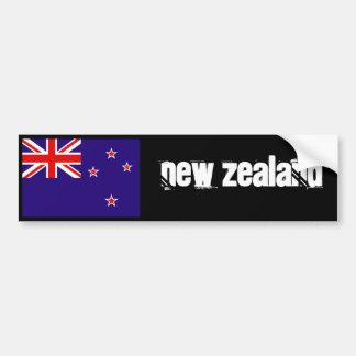 Parachoque 2 de la bandera de Nueva Zelanda Pegatina Para Auto