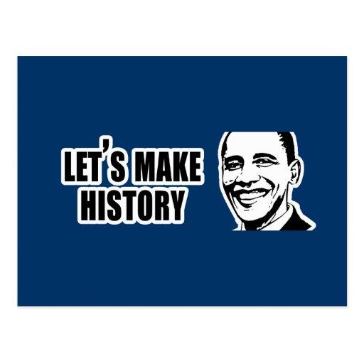 Parachoque 5.png de Obama de la historia Tarjeta Postal
