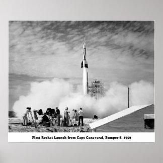 Parachoque 8, primer lanzamiento de Rocket de Cabo Póster