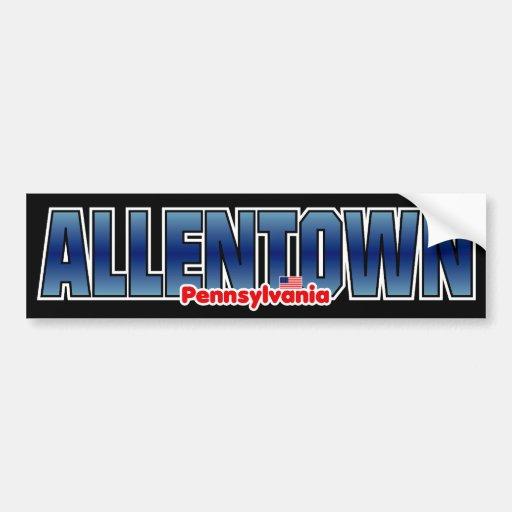 Parachoque de Allentown Pegatina Para Auto