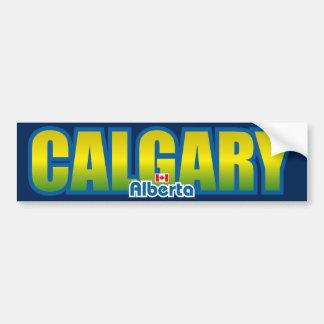 Parachoque de Calgary Etiqueta De Parachoque
