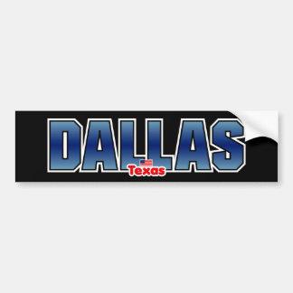 Parachoque de Dallas Pegatina Para Auto