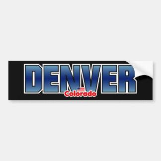 Parachoque de Denver Pegatina Para Auto