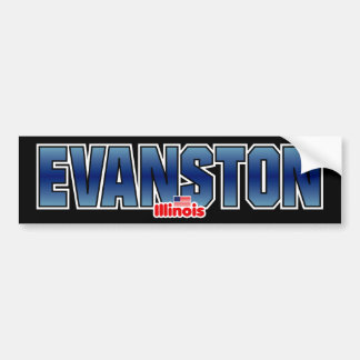 Parachoque de Evanston Pegatina Para Auto