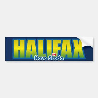 Parachoque de Halifax Etiqueta De Parachoque