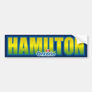 Parachoque de Hamilton Pegatina De Parachoque