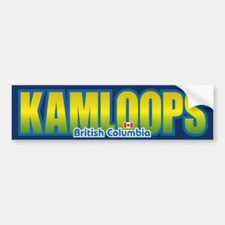 Parachoque de Kamloops Pegatina De Parachoque