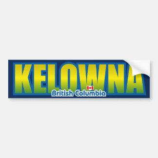 Parachoque de Kelowna Etiqueta De Parachoque
