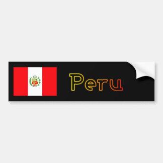 Parachoque de la bandera de la puesta del sol de P Pegatina Para Auto