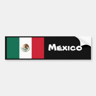 Parachoque de la bandera de México Etiqueta De Parachoque