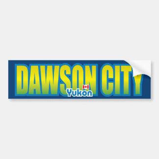 Parachoque de la ciudad de Dawson Pegatina Para Auto