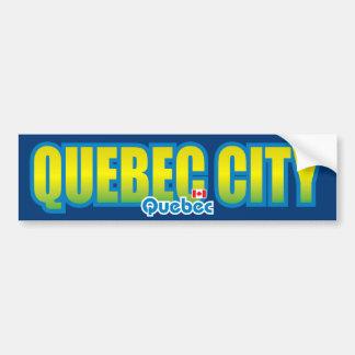 Parachoque de la ciudad de Quebec Pegatina De Parachoque