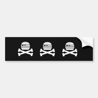 Parachoque de la hamburguesa del cráneo pegatina para auto