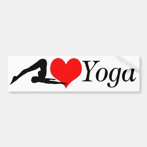 Parachoque de la yoga del amor pegatina para auto