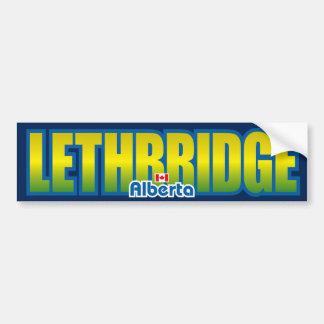 Parachoque de Lethbridge Pegatina De Parachoque
