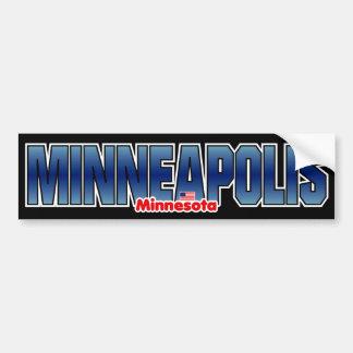 Parachoque de Minneapolis Pegatina Para Auto