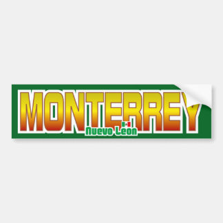 Parachoque de Monterrey Pegatina Para Auto
