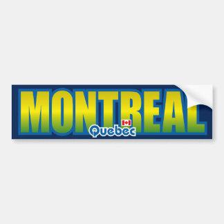 Parachoque de Montreal Pegatina De Parachoque