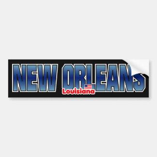 Parachoque de New Orleans Pegatina Para Auto