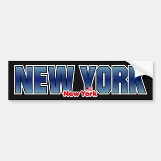 Parachoque de Nueva York Pegatina Para Auto
