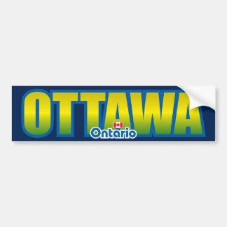 Parachoque de Ottawa Pegatina De Parachoque