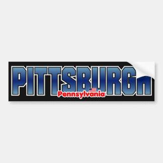 Parachoque de Pittsburgh Pegatina Para Auto