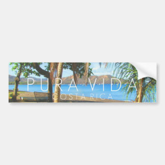 Parachoque de Playas del Coco Pura Vida Costa Rica Pegatina Para Auto