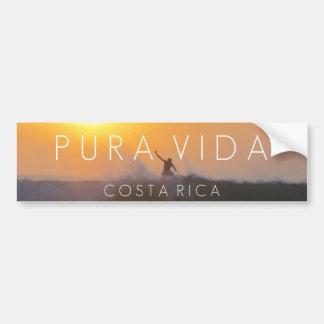 Parachoque de Pura Vida Costa Rica de la persona Pegatina Para Auto