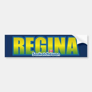 Parachoque de Regina Etiqueta De Parachoque
