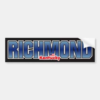 Parachoque de Richmond Pegatina Para Auto