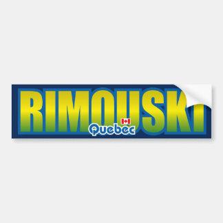 Parachoque de Rimouski Etiqueta De Parachoque