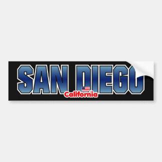 Parachoque de San Diego Pegatina Para Auto