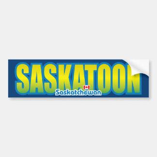 Parachoque de Saskatoon Pegatina Para Auto