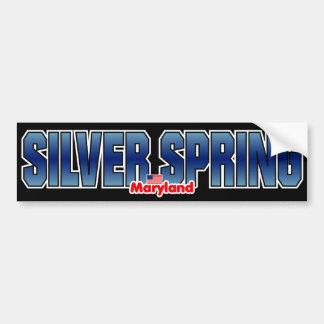 Parachoque de Silver Spring Pegatina Para Auto