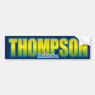 Parachoque de Thompson Etiqueta De Parachoque