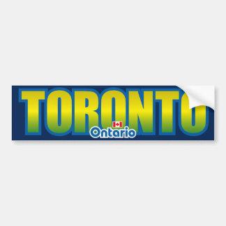Parachoque de Toronto Etiqueta De Parachoque