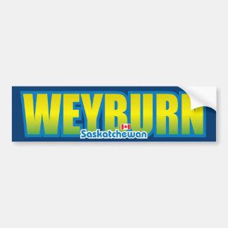 Parachoque de Weyburn Pegatina Para Auto